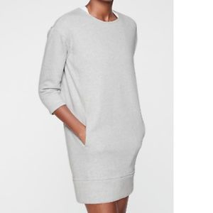 Athleta Cozy Karma Fleece Black Back Zip Dress
